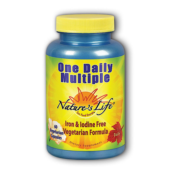 Nature's Life, One Daily Multiple, 60 Vegetarian Capsules - 040647006423 | Hilife Vitamins