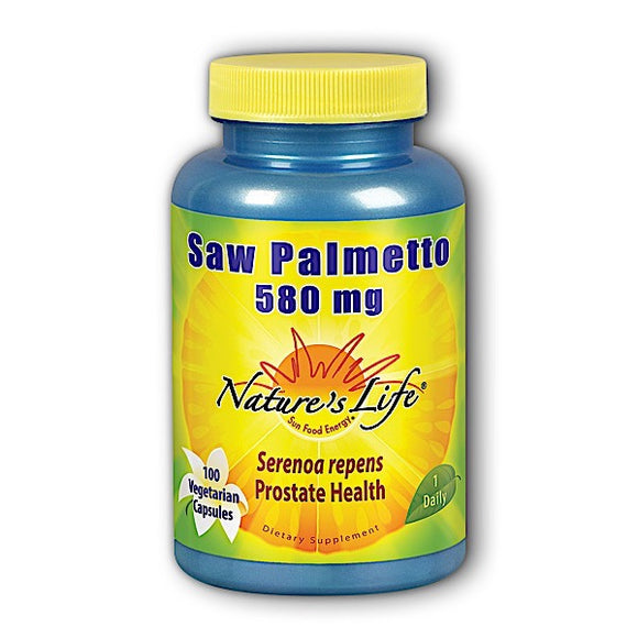 Nature's Life, Saw Palmetto 580 Mg, 100 Vegetarian Capsules - 040647006850 | Hilife Vitamins