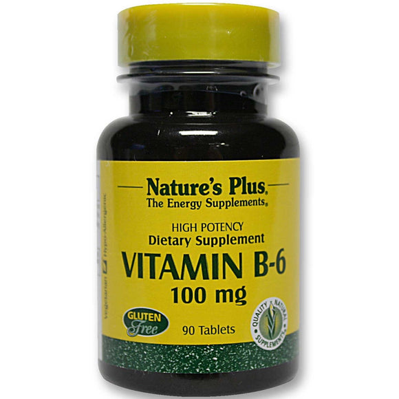 Nature's Plus, Vitamin B-6 100 Mg, 90 Tablets - 097467016507 | Hilife Vitamins