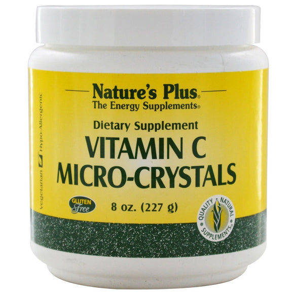 Nature's Plus, Micro Crystals Vitamin C, 8 Oz - 097467022102 | Hilife Vitamins