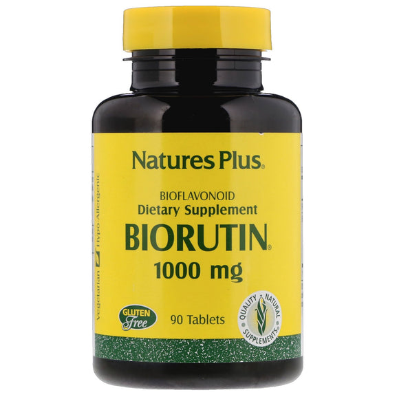 Nature's Plus, Biorutin 1,000 Mg, 90 Tablets - 097467025615 | Hilife Vitamins