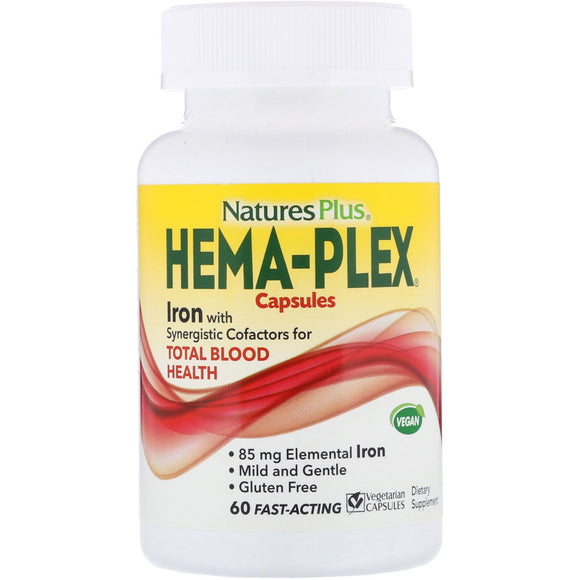 Nature's Plus, Hemaplex, Off Vegetarian Capsules - 097467037724 | Hilife Vitamins