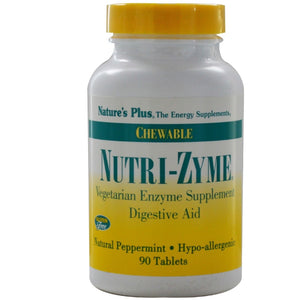 Nature's Plus, Nutri-Zyme Digestive Aid, 90 Chewables - 097467044555 | Hilife Vitamins