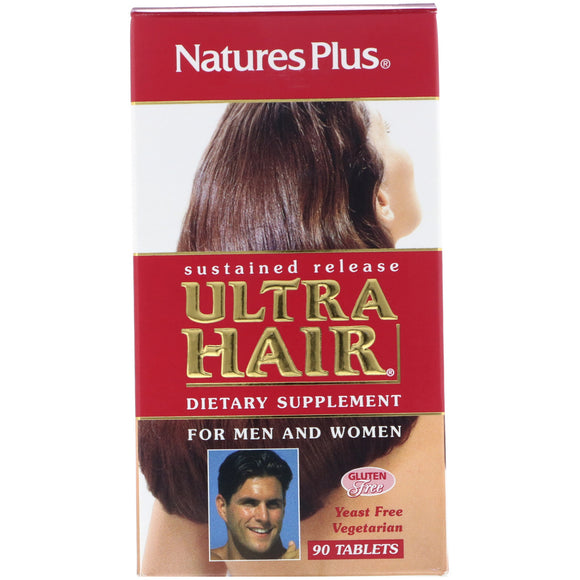 Nature's Plus, Ultra Hair S/R, 90 Tablets - 097467048423 | Hilife Vitamins