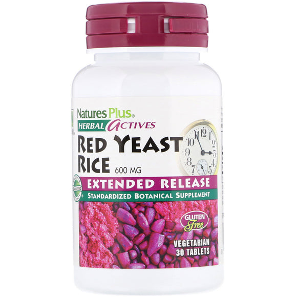 Nature's Plus, Red Yeast Rice Extended Release 600 Mg, 30 Vegetarian Tablets - 097467073609 | Hilife Vitamins