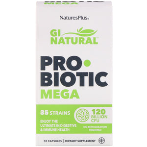 Nature's Plus, Gi Natural Probiotic Mega, 30 Capsules - 097467439023 | Hilife Vitamins