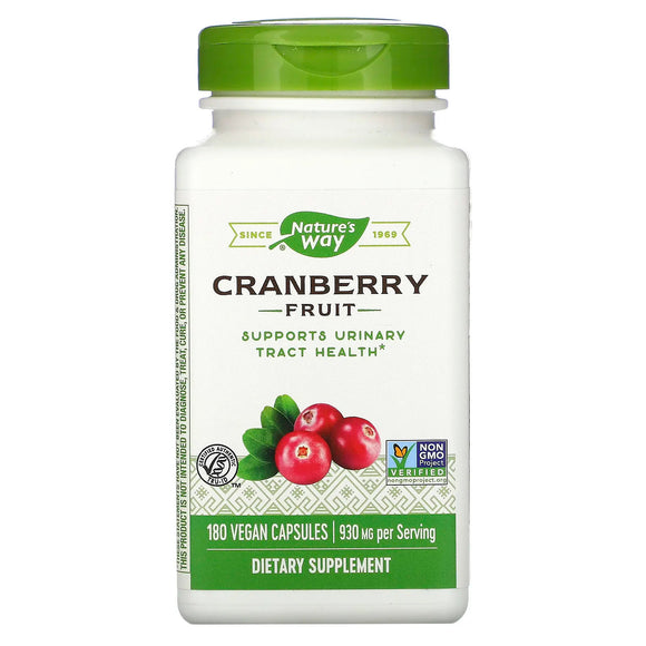 Nature's Way, Cranberry Fruit, 180 Vegetarian Capsules - 033674153611 | Hilife Vitamins