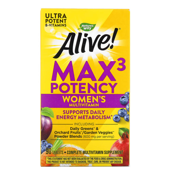 Nature's Way, Alive! Women's, 90 Tablets - 033674155431 | Hilife Vitamins
