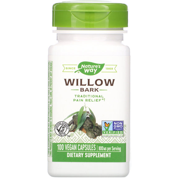 Nature's Way, White Willow Bark, 100 Vegetarian Capsules - 033674178508 | Hilife Vitamins