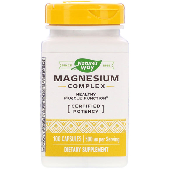 Nature's Way, Magnesium 500 Mg, 100 Capsules - 033674410516 | Hilife Vitamins