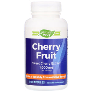 Nature's Way, Cherry Ext, 180 Capsules - 763948085408 | Hilife Vitamins