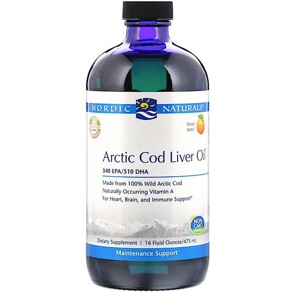 Nordic Naturals, Arctic Clo, Orange, 16 Oz - 768990547867 | Hilife Vitamins