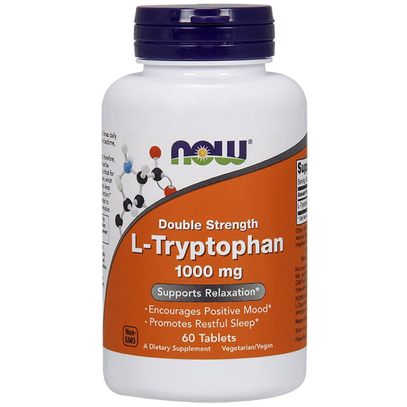 Now Foods, L-Tryptophan 1000 Mg, 60 Tablets - 733739001696 | Hilife Vitamins