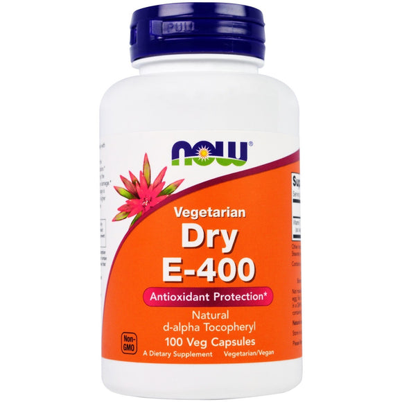 Now Foods, Dry E-400 Da, 100 Veg Capsules - 733739008503 | Hilife Vitamins