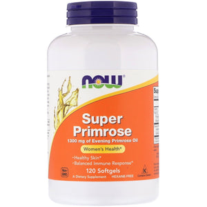 Now Foods, Super Primrose 1300 Mg, 120 Softgels - 733739017574 | Hilife Vitamins