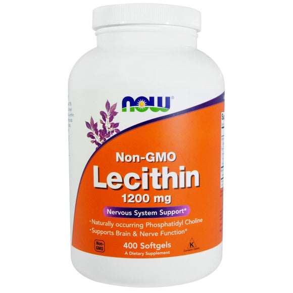 Now Foods, Lecithin 1200 Mg, 400 Softgels - 733739022141 | Hilife Vitamins