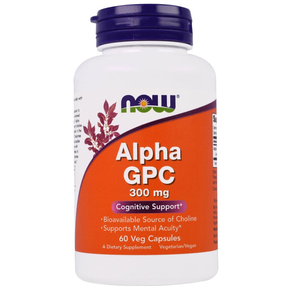 Now Foods, Alpha GPC, 300 mg, 60 Veg Capsules - 733739030856 | Hilife Vitamins