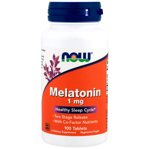Now Foods, Melatonin 1 Mg Time Release Complex, 100 Tablets - 733739032621 | Hilife Vitamins