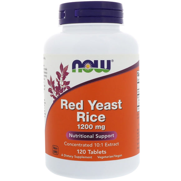 Now Foods, Red Rice Yeast Extract 1200 Mg, 120 Tablets - 733739035035 | Hilife Vitamins
