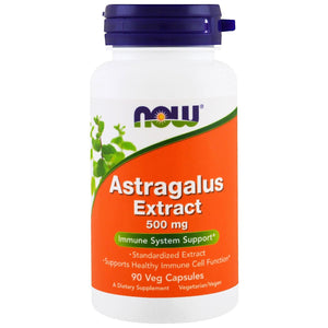 Now Foods, Astragalus 70 Percent Extract 500 Mg, 90 Veg Capsules - 733739045980 | Hilife Vitamins