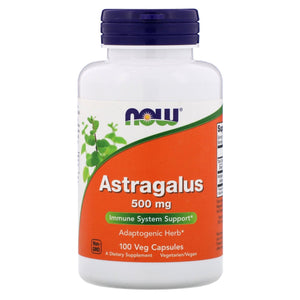 Now Foods, Astragalus 500 Mg, 100 Veg Capsules - 733739046055 | Hilife Vitamins