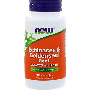 Now Foods, Ech/Gseal Root, 100 Capsules - 733739046659 | Hilife Vitamins