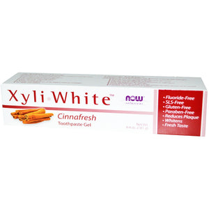 Now Foods, Xyliwhite Natural-Cinnamon Toothpaste - 733739080929 | Hilife Vitamins