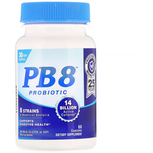 Nutrition Now, Pb 8 Pro-Biotic Acidophilus, 60 Capsules - 027917001067 | Hilife Vitamins