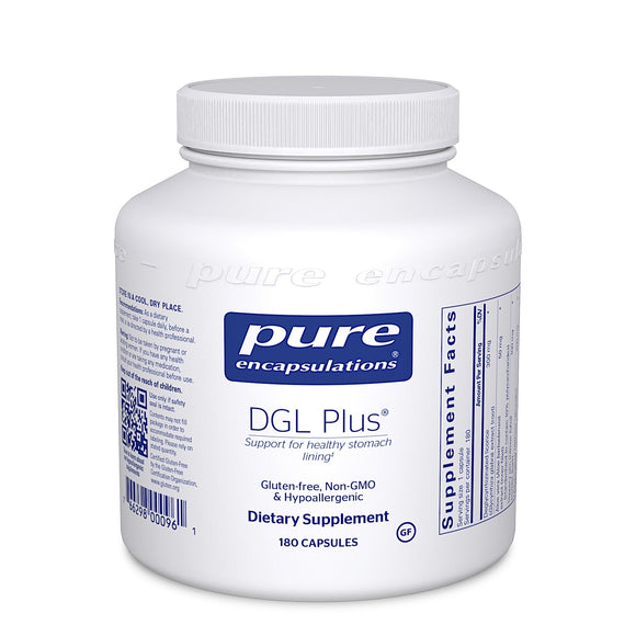 Pure Encapsulations, DGL Plus, 180 Capsules - 766298000961 | Hilife Vitamins