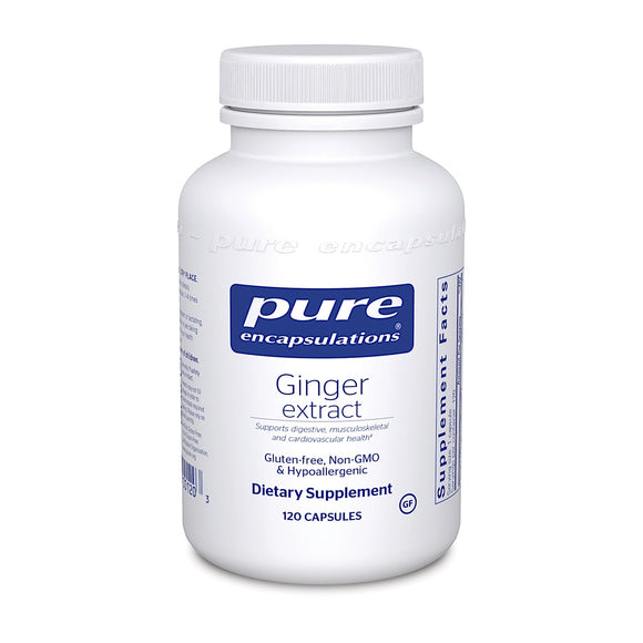 Pure Encapsulations, Ginger Extract, 120 Capsules - 766298001203 | Hilife Vitamins