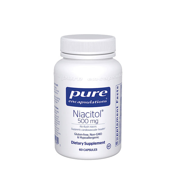 Pure Encapsulations, Niacitol 500 Mg, 60 Capsules - 766298001951 | Hilife Vitamins