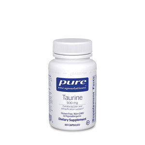 Pure Encapsulations, Taurine 500 Mg, 60 Capsules - 766298002460 | Hilife Vitamins