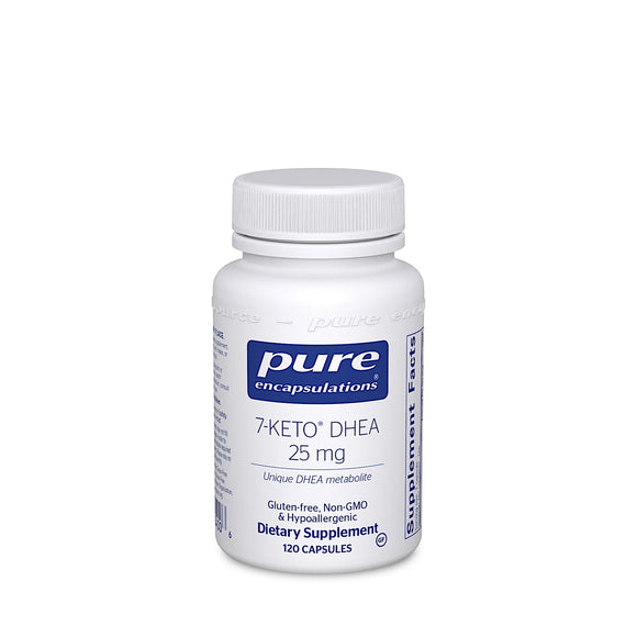 Pure Encapsulations, 7- Keto DHEA 25 Mg, 120 Capsules - 766298004006 | Hilife Vitamins