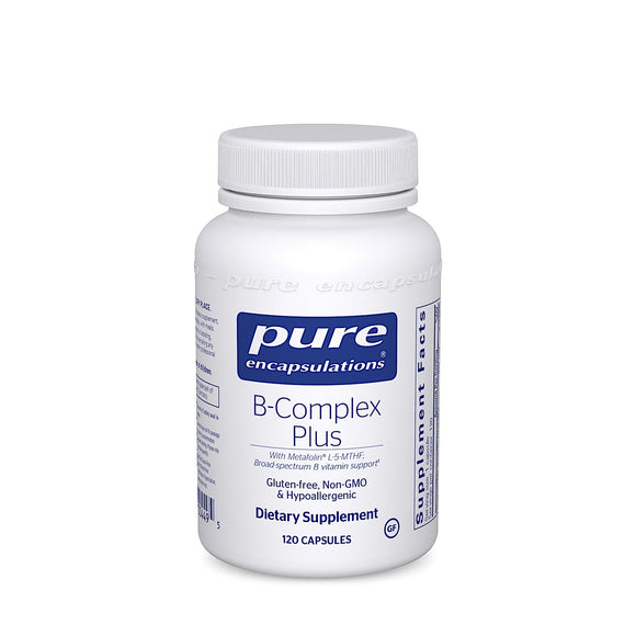 Pure Encapsulations, B-Complex Plus, 120 Capsules - 766298004495 | Hilife Vitamins