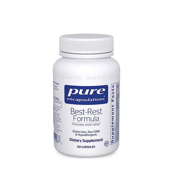 Pure Encapsulations, Best-Rest Formula, 60 Capsules - 766298010977 | Hilife Vitamins