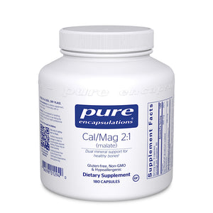Pure Encapsulations, Cal/Mag Malate 2:1, 180 Capsules - 766298012940 | Hilife Vitamins