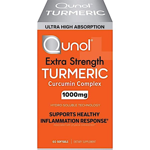 Qunol, Extra Strength Turmeric 1000 Mg, 60 Softgels - 850184008015 | Hilife Vitamins