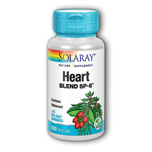 Solaray, Heart Blend Sp-8, 100 VegCaps - 076280002805 | Hilife Vitamins