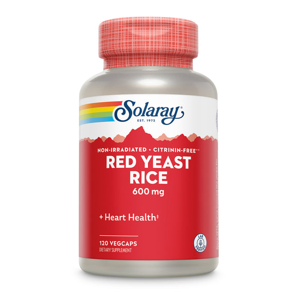 Solaray, Red Yeast Rice 600 Mg, 120 VegCaps - 076280004489 | Hilife Vitamins