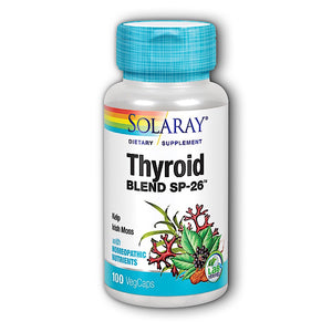 Solaray, Thyroid Blend Sp-26, 100 VegCaps - 076280022605 | Hilife Vitamins