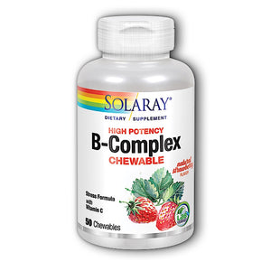 Solaray, B-Complex Strawberry Kiwi, 50 Chewable - 076280042658 | Hilife Vitamins