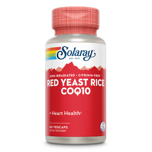 Solaray, Red Yeast Rice + Coq-10 600/30 Mg, 60 VegCaps - 076280088922 | Hilife Vitamins