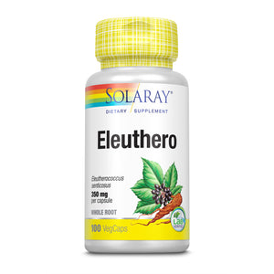 Solaray, Eleuthero 350 Mg, 100 VegCaps - 076280193145 | Hilife Vitamins