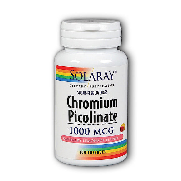 Solaray, Chromium Picolinate Raslem 1000mcg, 100 Lozenges - 076280418873 | Hilife Vitamins