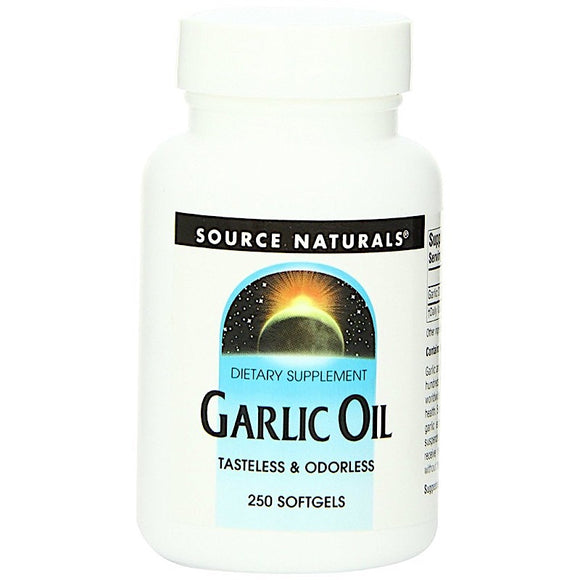 Source Naturals, Garlic Oil, 250 Softgels - 021078002147 | Hilife Vitamins