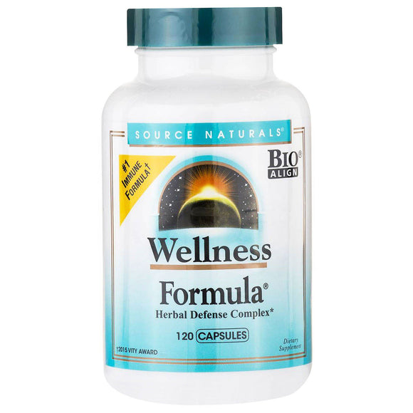 Source Naturals, Wellness Formula, 120 Capsules - 021078014256 | Hilife Vitamins