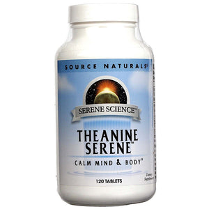 Source Naturals, Serene Science® Theanine Serene®, 120 Tablets - 021078017769 | Hilife Vitamins