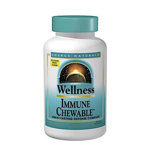 Source Naturals, Wellness Immune Chewable™ Berry, 30 wafer - 021078023609 | Hilife Vitamins