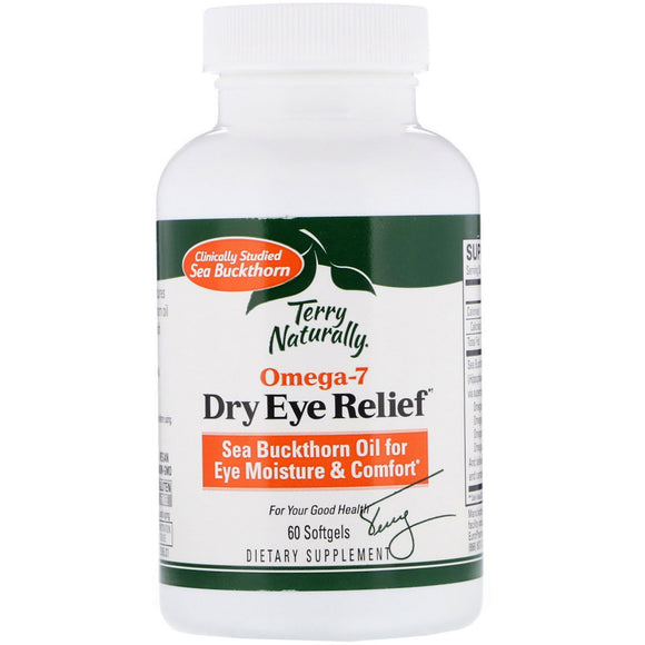 Terry Naturally, Omega7 Eye Relief, 60 Softgels - 367703135065 | Hilife Vitamins