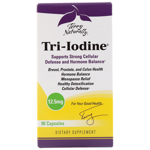 Terry Naturally, Tri-Iodine 12.5 Mg, 90 Capsules - 367703182991 | Hilife Vitamins